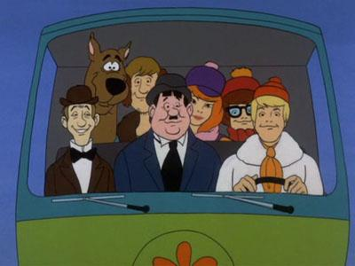 Remember when they made a bunch of Scooby Doo mashups, with Laurel & Hardy, the Three Stooges, and Batman? Genius. Image © Hannah Barbera