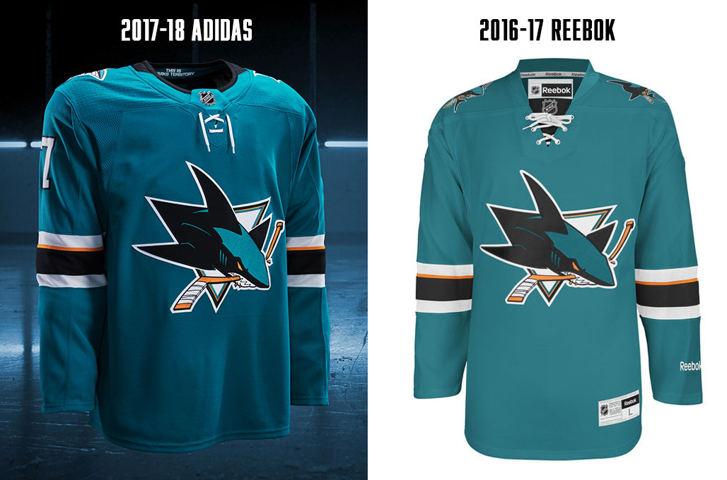 0a9907a19 SanJose-Adizero. I like to think that no one even told the Sharks that  there d be new jerseys this season. Perhaps they still don t know what s  happening.